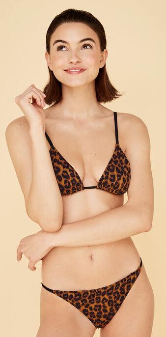 Pantheriz brown triangle bikini top коричневый.