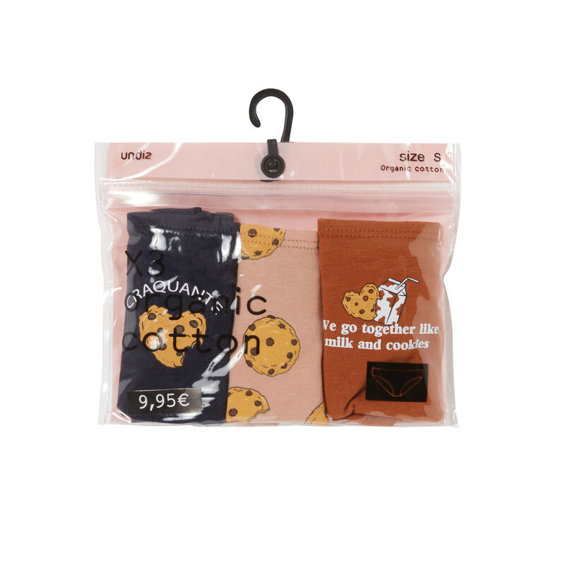 pack of 3 mood cookie panties - brown;