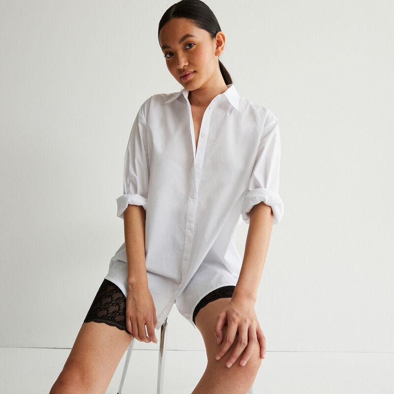 """рубашка в стиле """"бойфренд"""" с длинными рукавами - белый;"""