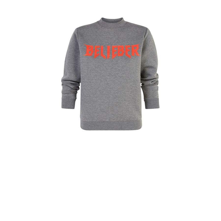 Bigfaniz Justin Bieber grey sweatshirt;${refinementColor}