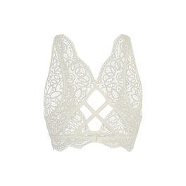 Maniz burning off-white brassiere bra white.