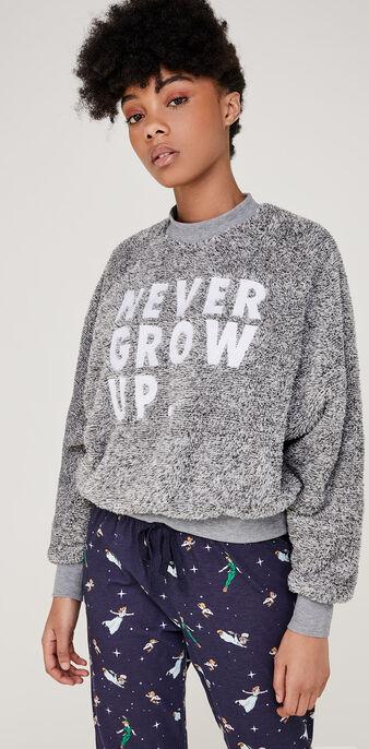Nevergrowiz gray sweatshirt grey.