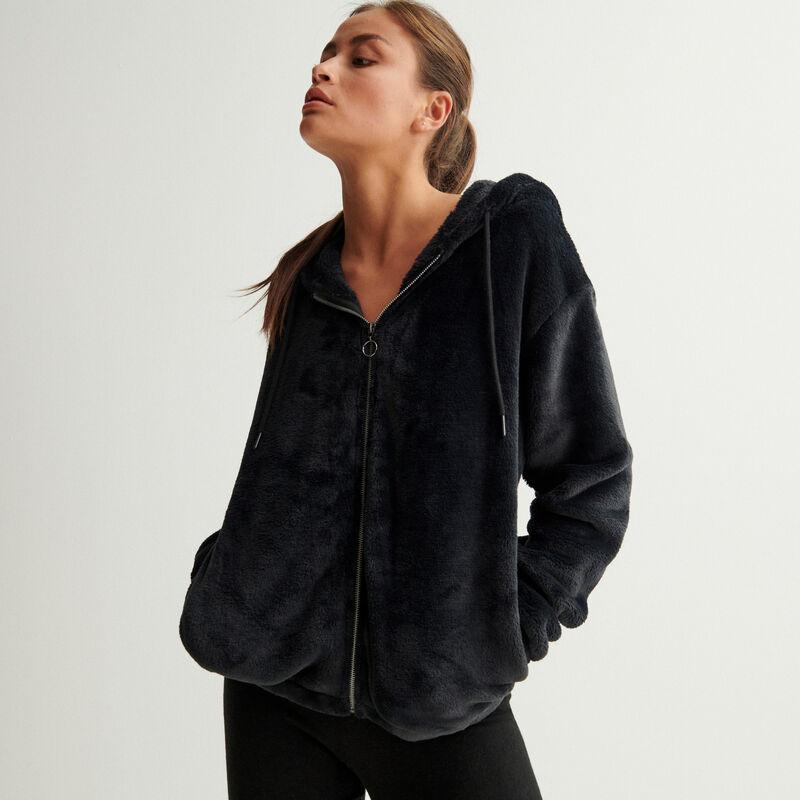 куртка из флиса на молнии - черный;