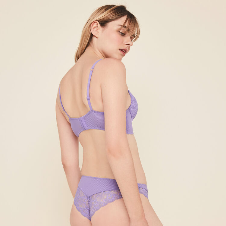Microribiz micro/lace push-up bustier bra;