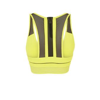 Strongoiz fluorescent yellow sports bra yellow.