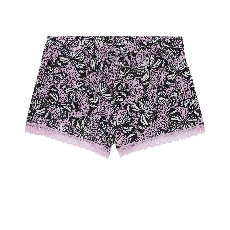 printed shorts - lilac;