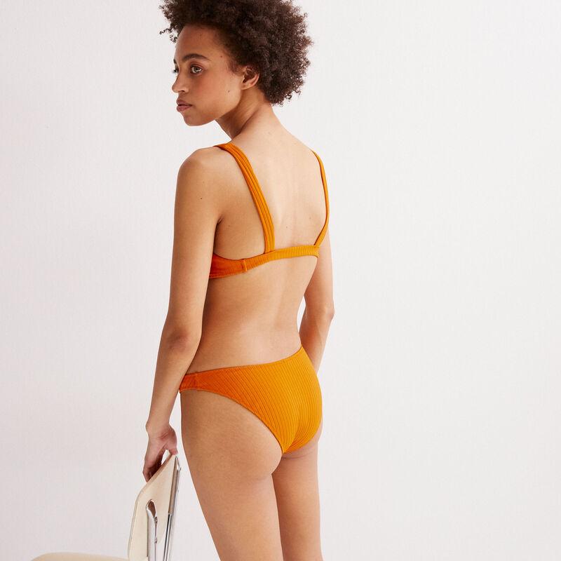 Hawaiian print bikini briefs - orange;