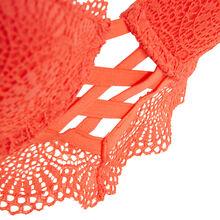 Totoiz coral push-up bustier bra pink.