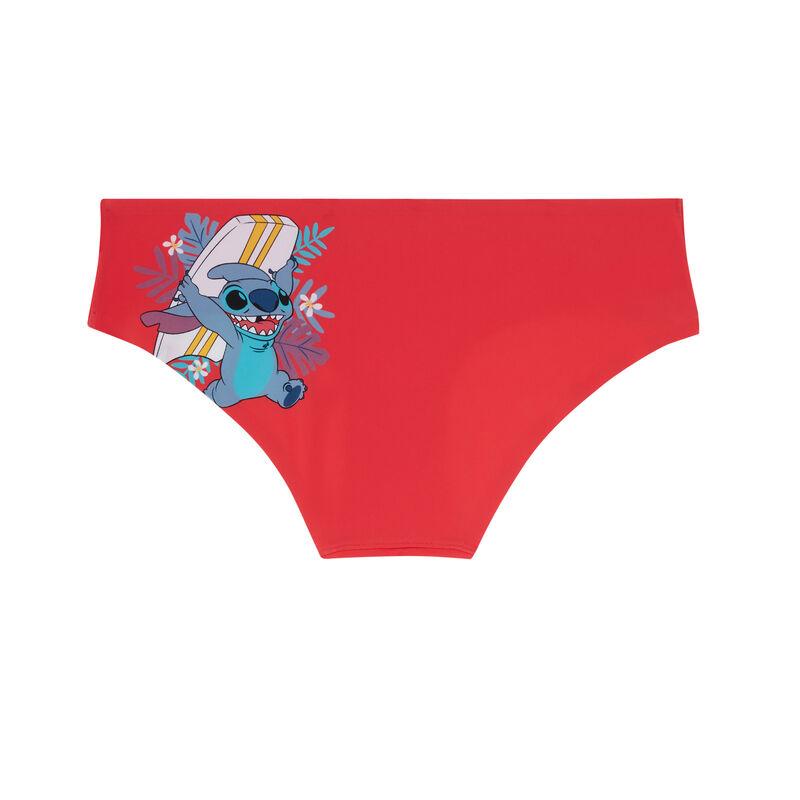 трусики-шорты с принтом «Стич» - коралловый;