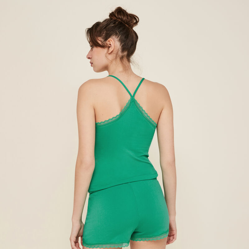 Vitamiz emerald-green shorts;