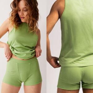 unisex jersey vest - green
