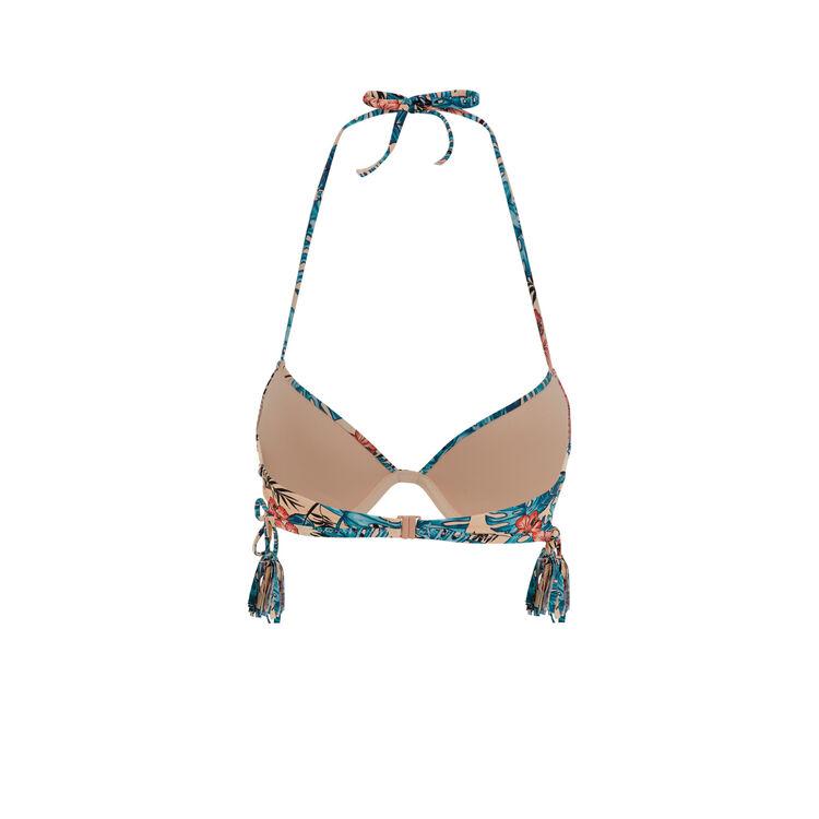 Kalafatiz apricot push-up bikini top;