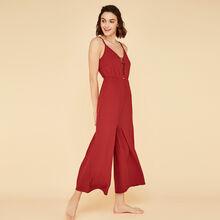 Ribcriz red brick jumpsuit brown.