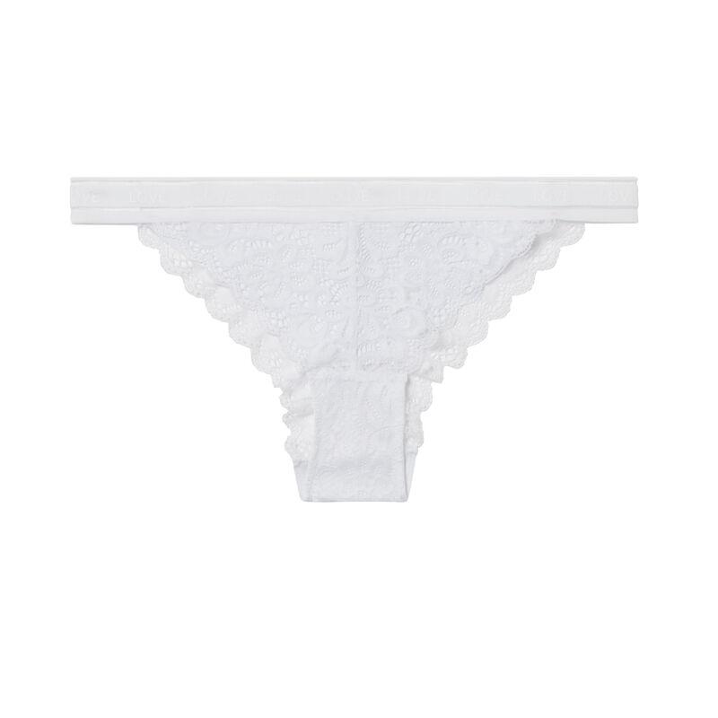 Lace briefs - white;