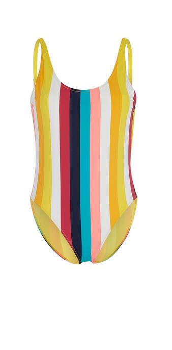 Ryiz multicoloured one-piece swimsuit white.