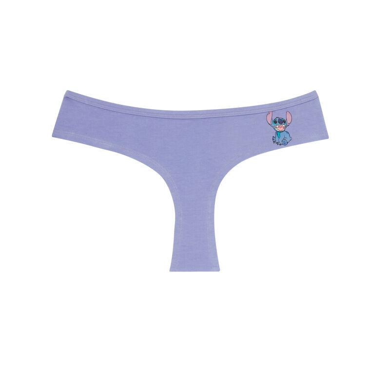 bawełniane szorty Stitch — kolor fioletowy;