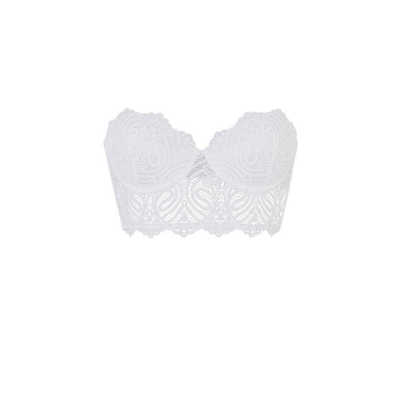 Bustier push-up bra - white;
