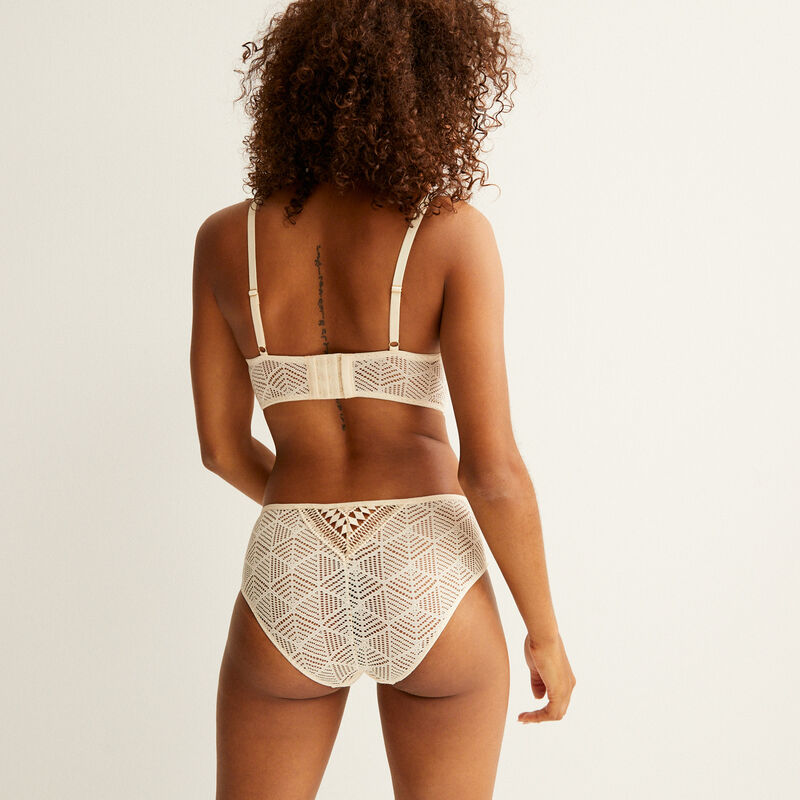 lace knickers - cream;