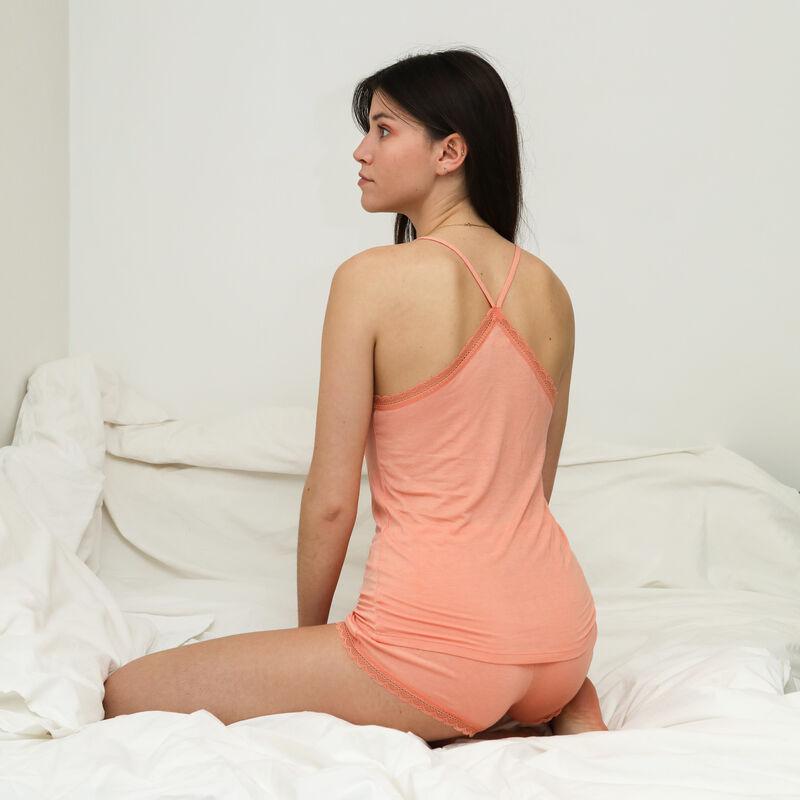 plain jersey shorts - pink;