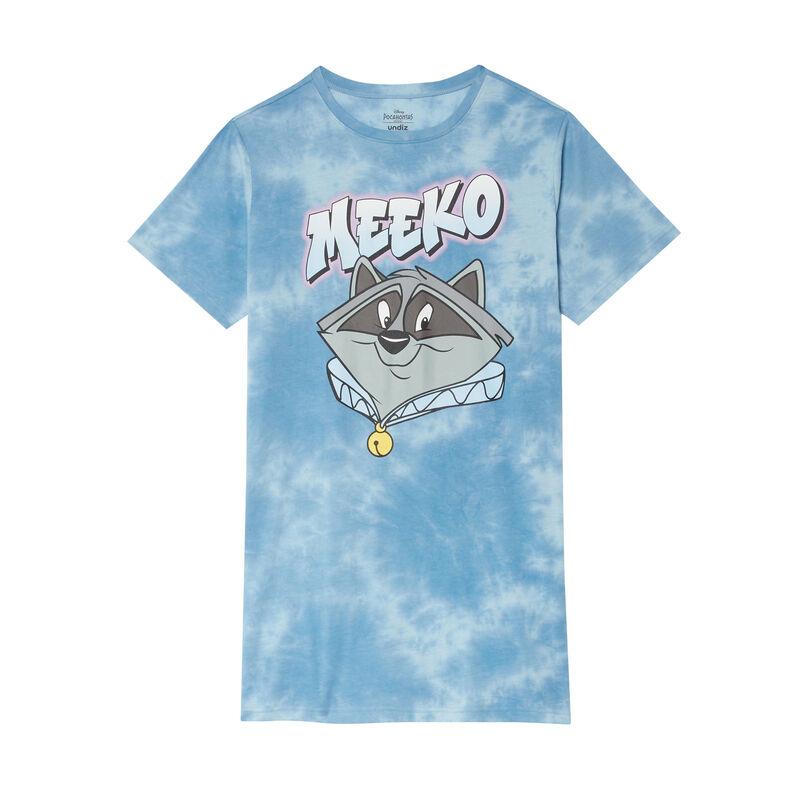 Nightshirt with Meeko print - coral;