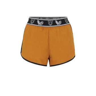 Punksportiz ochre-coloured shorts yellow.
