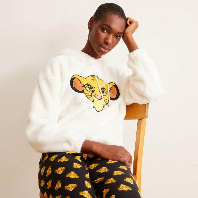 Simba fleece sweatshirt - off-white;