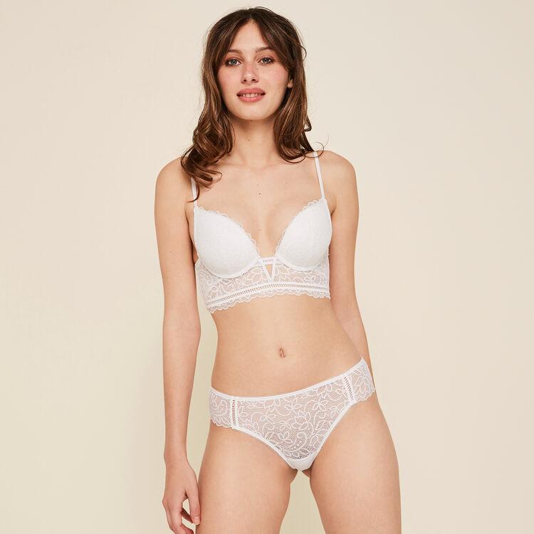 Sayiz white push-up bra;