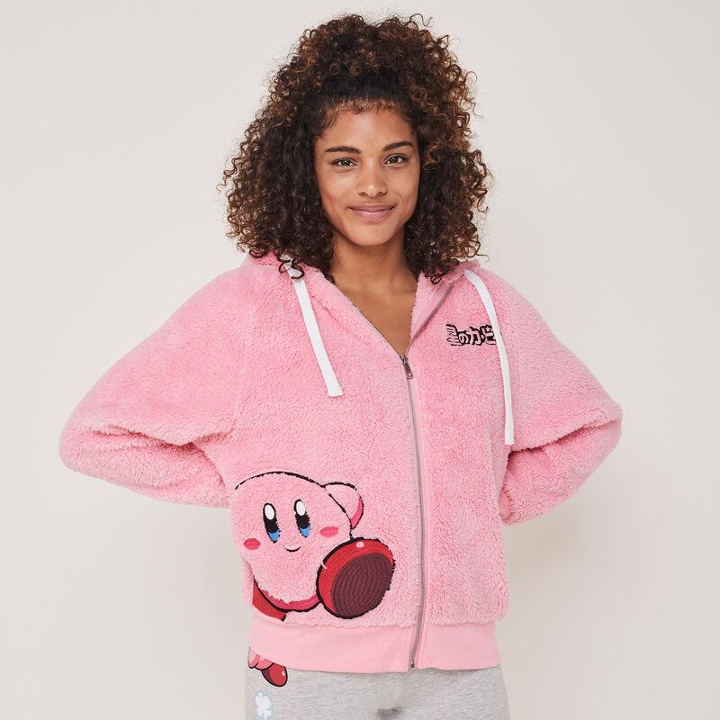 kirbiz fleece jacket with embroidered Kirby motifs;