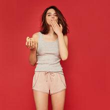 Pompiz red shorts.
