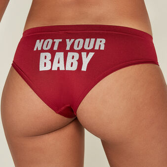 Notyourbabiz burgundy underwear biking red.