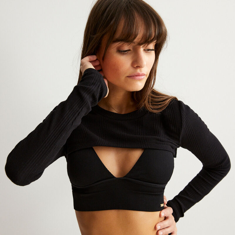arm cover top - black;