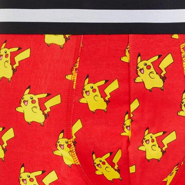Boxershorts aus Baumwolle mit Pikachu-Print.;