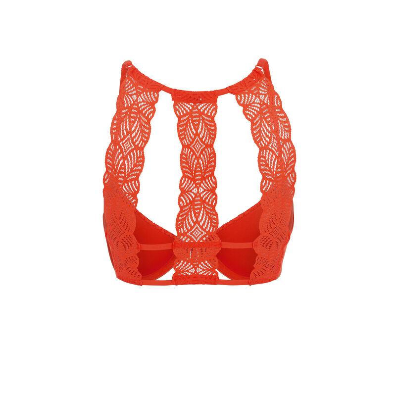 Guapiz coral padded bra;