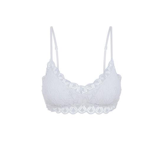 Bollywoodiz white triangle bra;