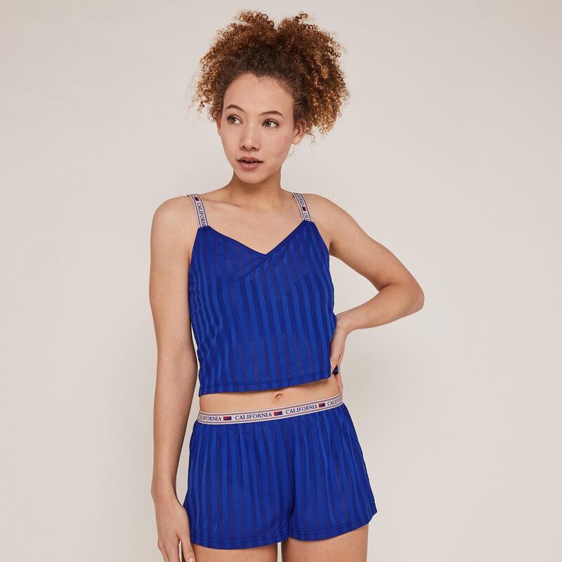 Openwork shorts - blue;
