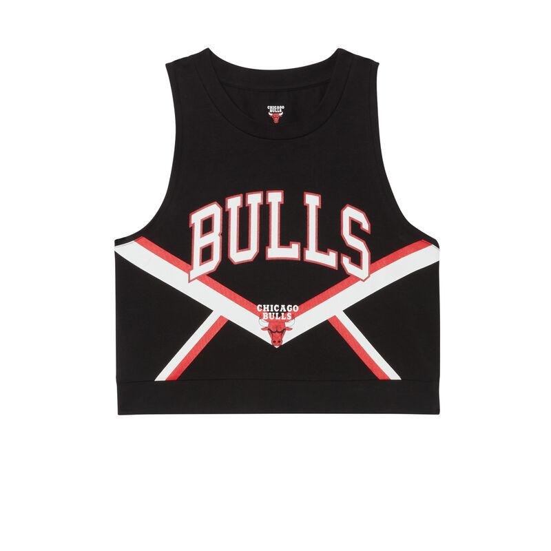 Chicago Bulls crop tops - black;