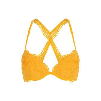 Triamiz yellow push-up bra yellow.