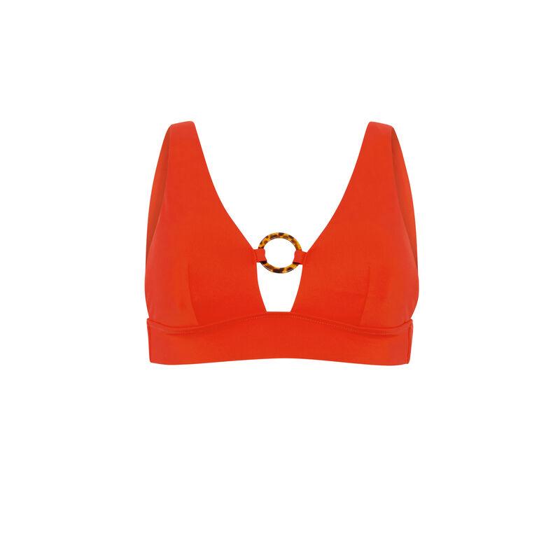 Triangle bikini top - red;