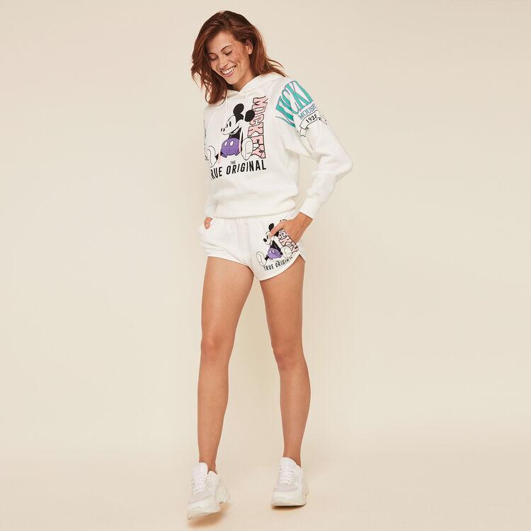 Mickeymousiz Mickey print fleece sweatshirt with hood;