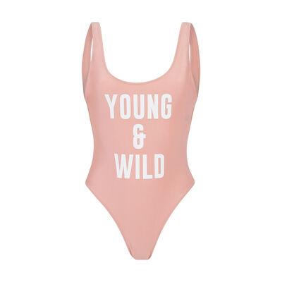 Byiz light pink one-piece swimsuit;