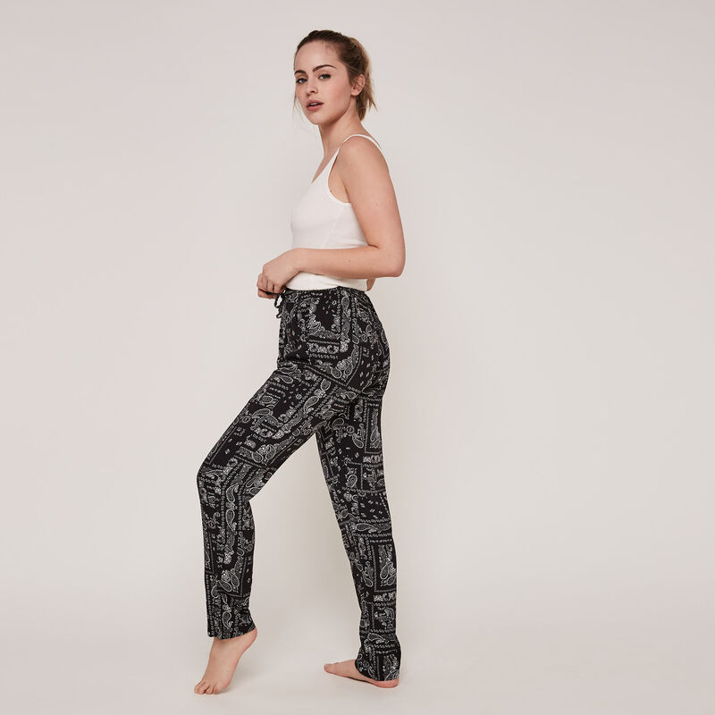 Bandajauniz trousers with bandana print;