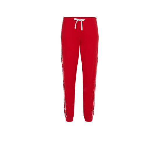 Sidebandiz red trousers;