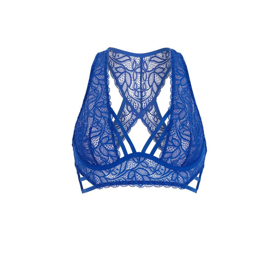 Stripiniz blue foulard demi-cup bra;