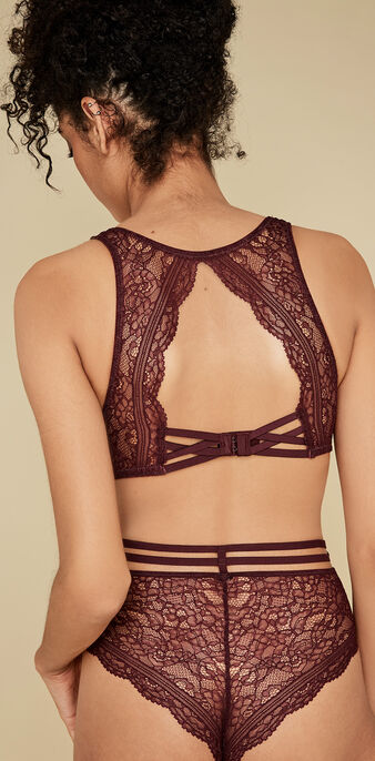 Soutien-gorge bordeau everydayiz red.