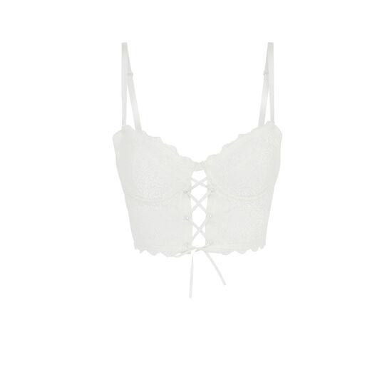Jupeiz white demi-cup bra;