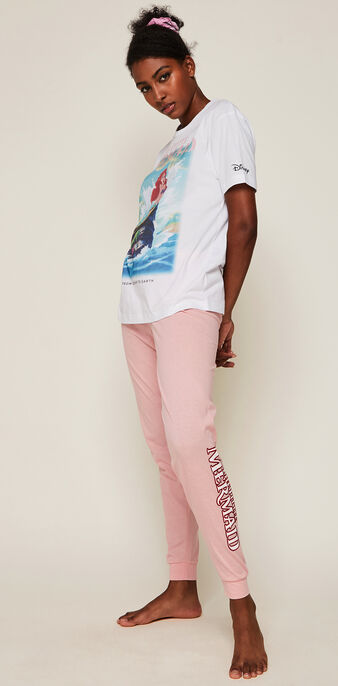 Arielrochiz ariel print trousers pink.