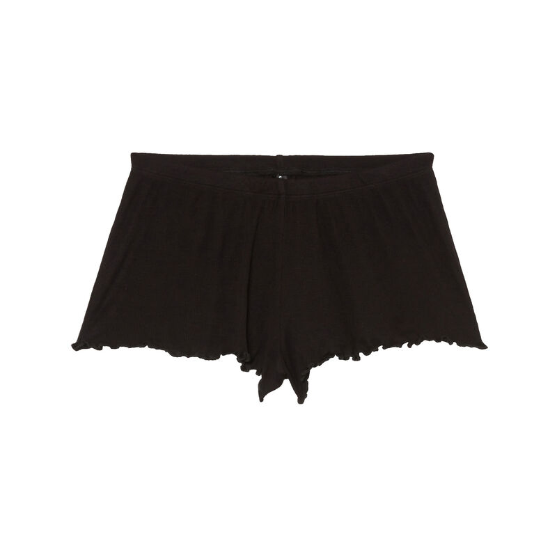 high-cut shorts - black;
