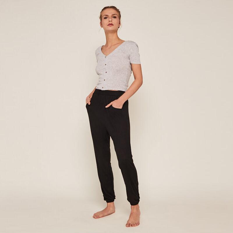 брюки с карманами - черный ;