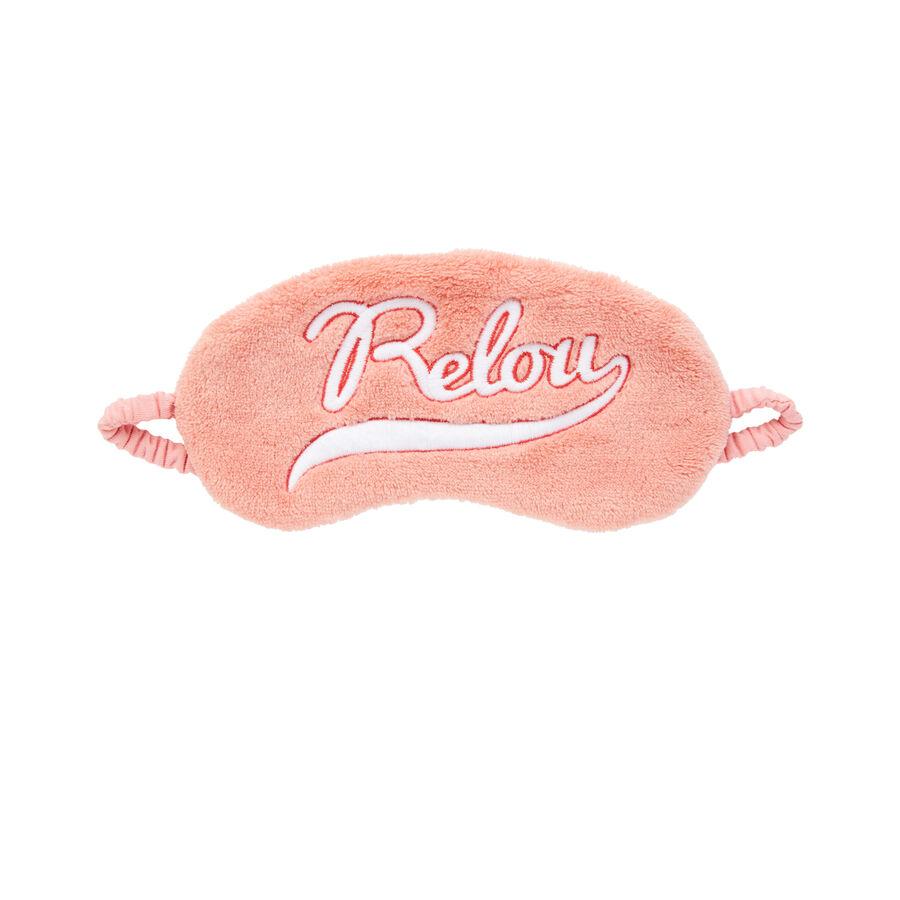 Розовая маска для сна saouliz;