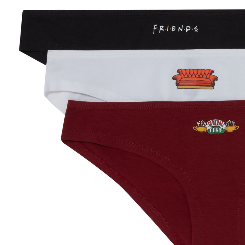 • Pack of 3 pairs of  Friends briefs - purple;